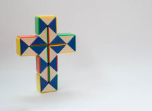 Crucifix twist toy. Cross or crucifix twist toy in white background Stock Photography