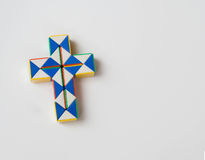 Crucifix twist toy. Cross or crucifix twist toy in white background Royalty Free Stock Image