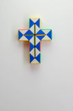Crucifix twist toy. And vertical view of cross or crucifix twist toy in white background Stock Image