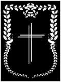 Crucifix. Vector illustration of crucifix on black background Stock Photography