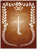 Crucifix. Vector illustration of crucifix on brown background Royalty Free Stock Images