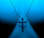 Crucifix. Worn around the neck Royalty Free Stock Photos