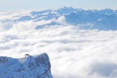 The crucifix on Zugspitze Royalty Free Stock Images