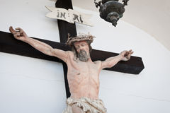 Crucifixed Jesus statue Stock Photo