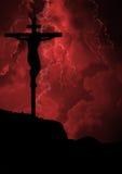 Crucifixión de Jesús Foto de archivo libre de regalías
