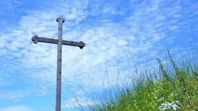 Crucifixión del fondo del cielo de Jesus Christ The almacen de metraje de vídeo