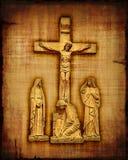 Crucifixión del Jesucristo Imagen de archivo libre de regalías