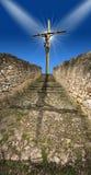 Crucifixión - Jesús en la cruz Imágenes de archivo libres de regalías