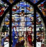 Crucifixión, Jesús en la cruz Foto de archivo libre de regalías
