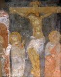 Crucifixión, nd San Juan de la Virgen María bajo cruz Imágenes de archivo libres de regalías