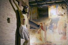 Crucifixión de Jesús, Siena, Italia Foto de archivo