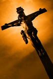 The Crucifixion. The Jesus on the cross Stock Photos