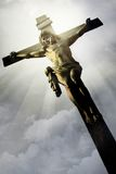 The Crucifixion. The Jesus on the cross Stock Image