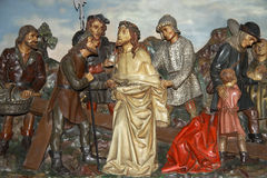Crucifixion. Tale of crucifixion of Jesus Christ royalty free stock photo