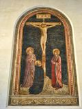 Crucifixion avec St Dominic Photos stock