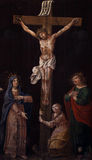 Crucifixion, Blessed Virgin Mary and Saint John under the cross Royalty Free Stock Photos