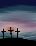 Crucifixion of Christ. Illustration depicting the crucifixion of Christ...see related image of empty crosses on Easter morning in my portfolio Royalty Free Stock Images