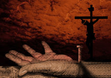 Crucifixion of christ Royalty Free Stock Images