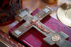 Crucifixion croisée de Jesus Christ Images libres de droits