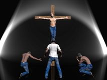 Crucifixion, easter, faith. Royalty Free Stock Photos