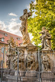 Crucifixion group in Bamberg Stock Photo