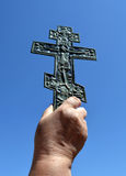 Crucifixion in hand Stock Images