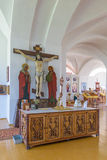 The Crucifixion of Jesus Christ on the cross at the Cathedral of the Holy Trinity Stock Image