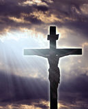 Crucifixion. Jesus Christ Crucifixtion, christian concept Royalty Free Stock Images