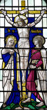 Crucifixion of Jesus Christ (stained glass) Royalty Free Stock Photos