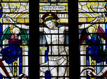 Crucifixion of Jesus Christ (stained glass) Stock Images