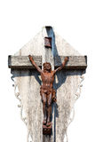 Crucifixion of Jesus Christ. On white background Royalty Free Stock Images