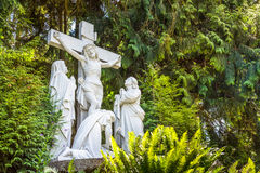 Crucifixion of Jesus nailed to the cross Royalty Free Stock Photos