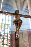 The crucifixion in the morning light. At the temple Stock Photo