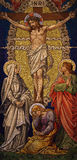 Crucifixion  mosaic Easter Royalty Free Stock Photography