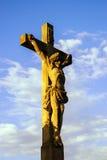 Crucifixion near Chapelle Saint-Sebastien de Dambach-la-Ville , Royalty Free Stock Photography