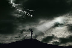 Free Crucifixion Of Jesus On Golgotha With Copy Space Stock Photos - 69000333