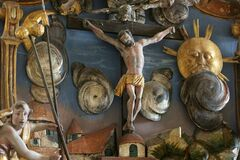 Free Crucifixion On The Altar Of The Passion Of Christ In The Church Of St Mary Magdalene In Cazma, Croatia Royalty Free Stock Photography - 190133187