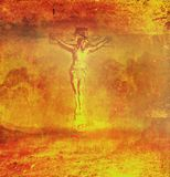 Crucifixion and resurrection of Jesus Christ Royalty Free Stock Image