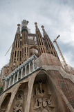 Crucifixion Scene and Towers of Sagrada Familia Royalty Free Stock Photography