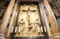Crucifixion in the Siena Cathedral, Siena, Tuscany, italy Royalty Free Stock Photo