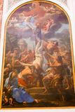 Crucifixion of St Peter Painting - Rome Stock Images