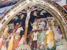 Crucifixion by Turone di Maxio in Chiesa San Fermo Stock Photo