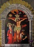 Crucifixion, Virgin Mary under the Cross stock photos