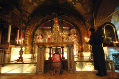 crucifixionlokal Arkivbild