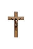 Crucifixo com figura de Jesus Fotografia de Stock