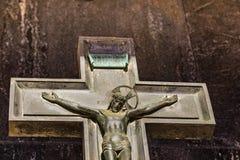 Crucifixo com sofrimento de Jesus Christ foto de stock royalty free