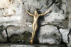 Crucifixo de Jesus na cruz Fotografia de Stock