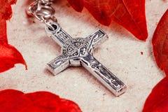 Crucifixo do rosário Foto de Stock Royalty Free