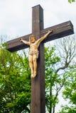 Crucifixo - Jesus Christ crucificado imagem de stock