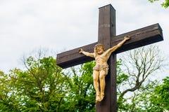 Crucifixo - Jesus Christ crucificado imagens de stock royalty free